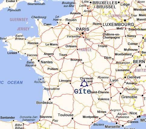 Carte France pour Gite Chenerailles